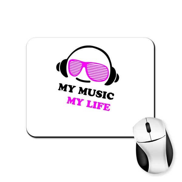 Коврик для мыши Моя Музыка - Моя Жизнь