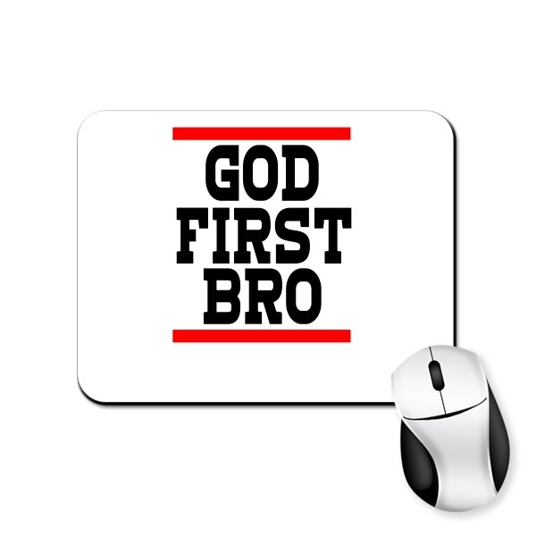 Коврик для мыши Сначала Бог