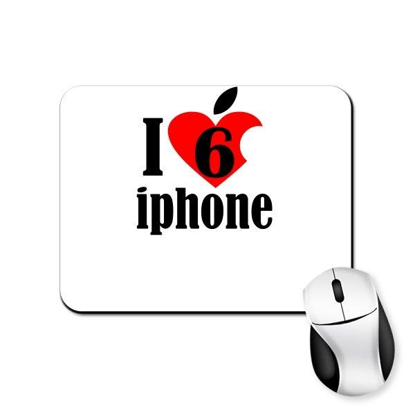Коврик для мыши Люблю 6 Айфон
