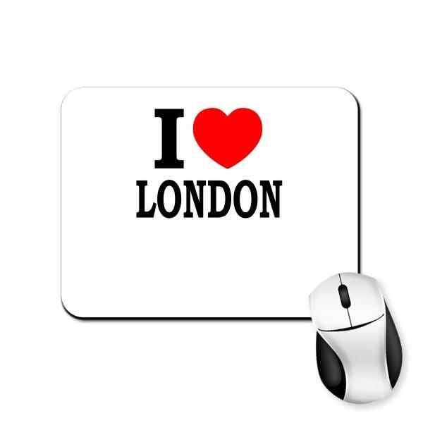Коврик для мыши Я люблю Лондон