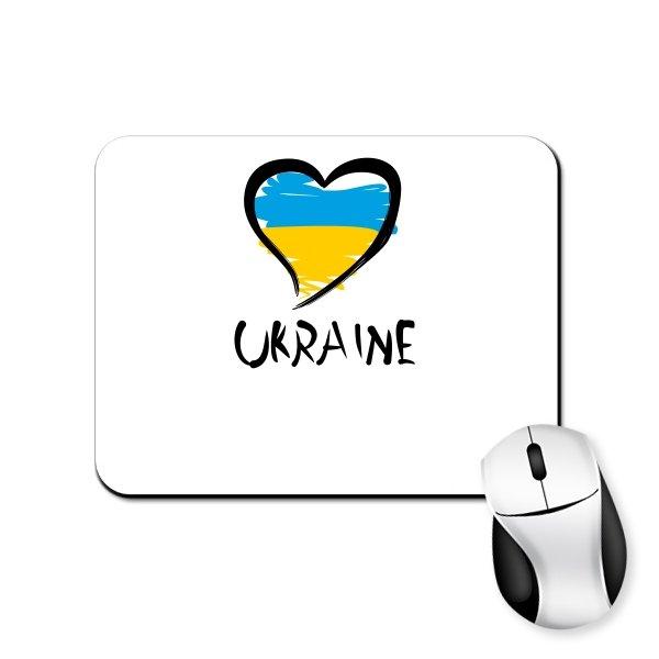 Коврик для мыши Сердце Ukraine