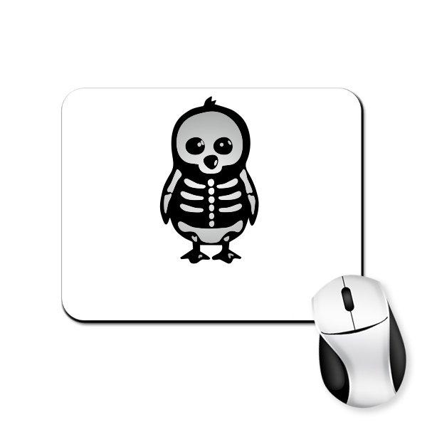 Коврик для мыши Скелет Пингвина