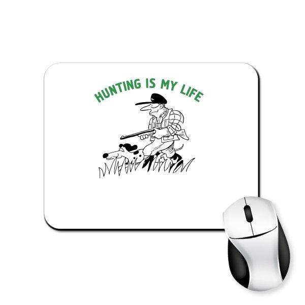 Коврик для мыши Охота моя жизнь