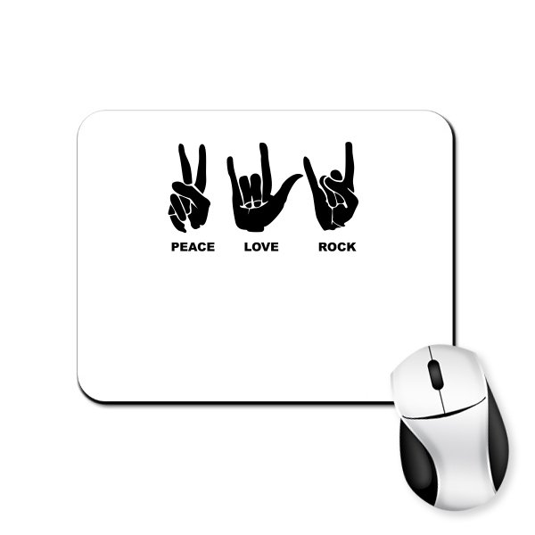 Коврик для мыши Peace Love Rock