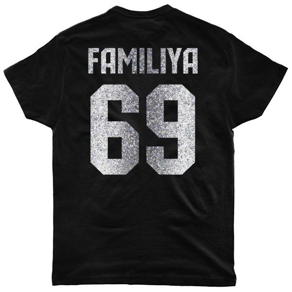 Мужская футболка Фамилия с Номером (глиттер)