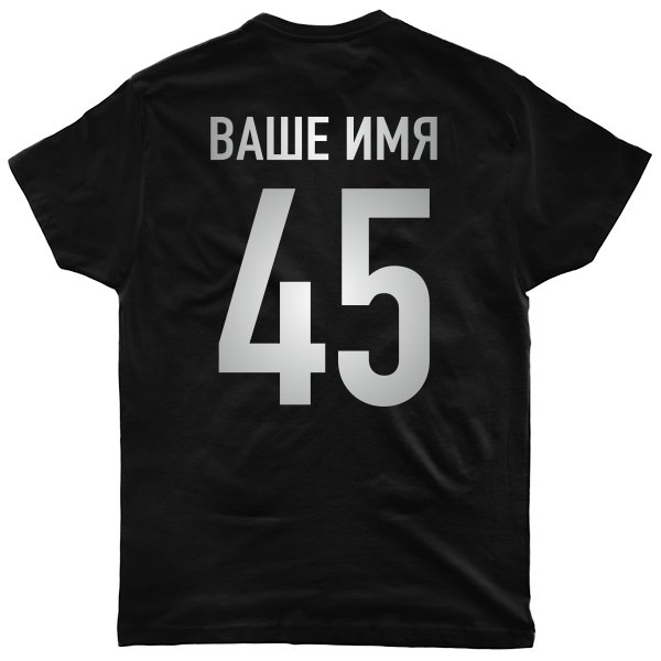 Мужская футболка Фамилия Матовое Серебро