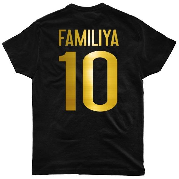 Мужская футболка Глянцевая Фамилия Золото
