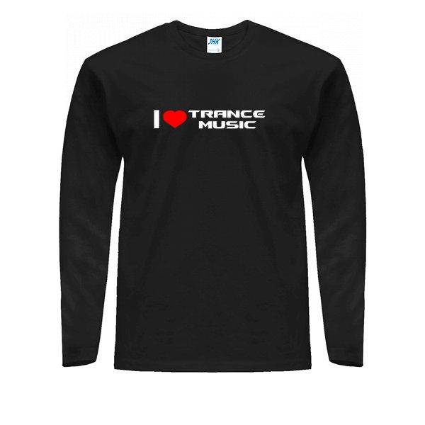Мужской лонгслив I Love Trance Music