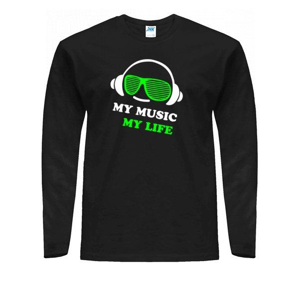 Мужской лонгслив Моя Музыка - Моя Жизнь