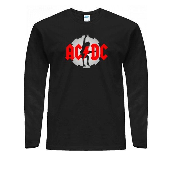 Мужской лонгслив с логотипом AC DC