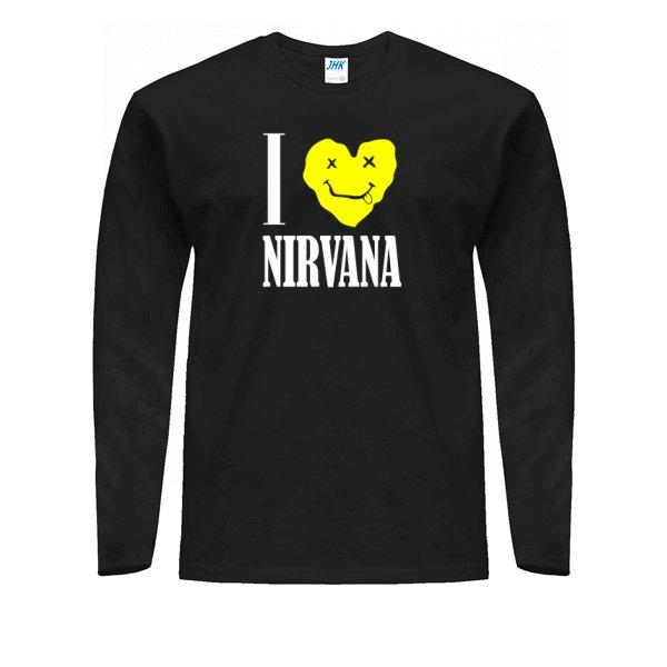 Мужской лонгслив I Love Nirvana