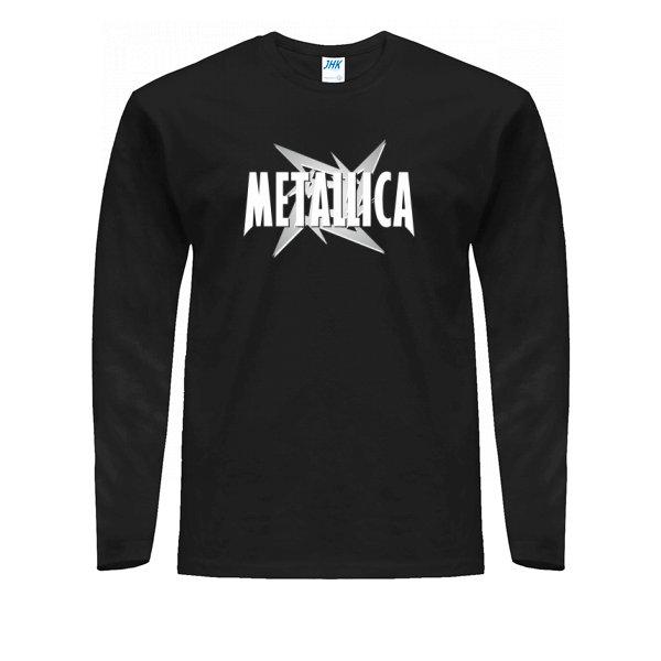 Мужской лонгслив Metallica logo