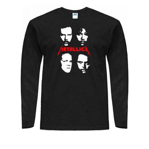 Мужской лонгслив Metallica лица