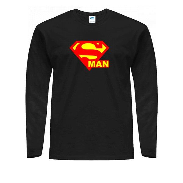 Мужской лонгслив Со Знаком Супермена