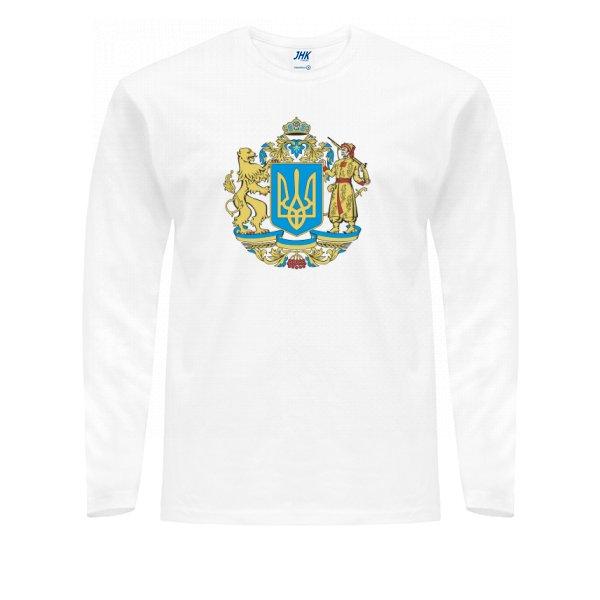 Мужской лонгслив Большой Герб Украины
