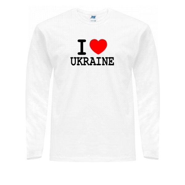 Мужской лонгслив Я Люблю Украину