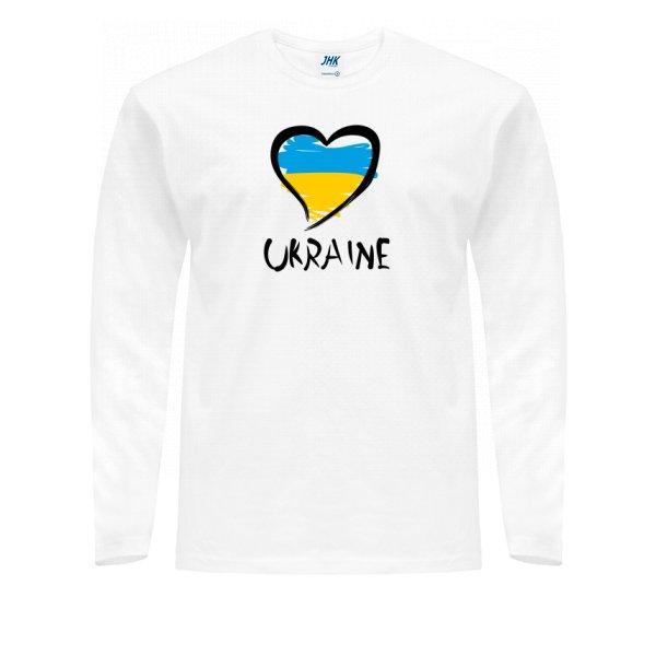 Мужской лонгслив Сердце Ukraine