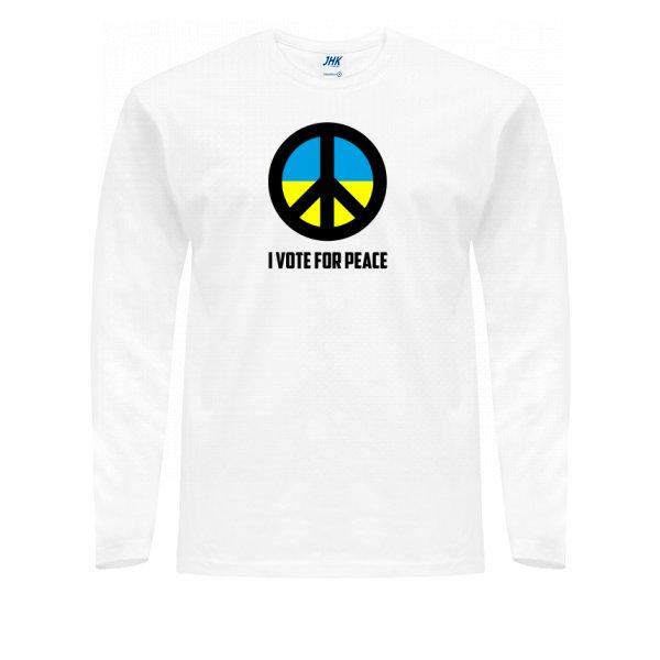 Мужской лонгслив Голосую за Мир