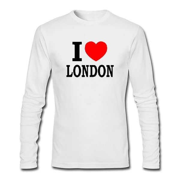 Мужской лонгслив Я люблю Лондон