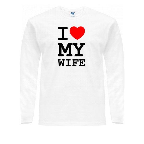 Мужской лонгслив Люблю Свою Жену