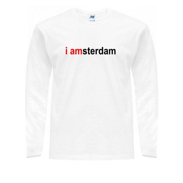 Мужской лонгслив I Amsterdam