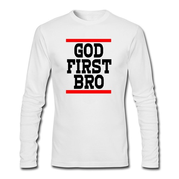 Мужской лонгслив Сначала Бог