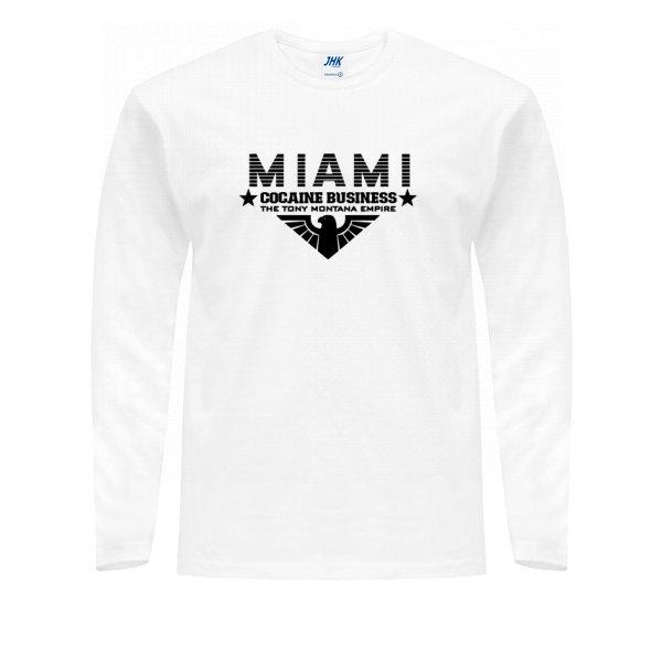 Мужской лонгслив Miami Cocaine Business