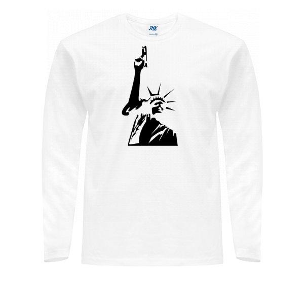 Мужской лонгслив Статуя Свободы с Пистолетом