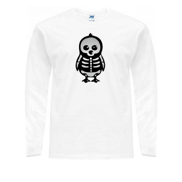Мужской лонгслив Скелет Пингвина