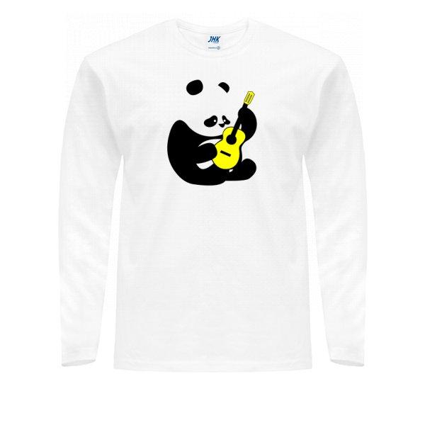 Мужской лонгслив Панда с Гитарой