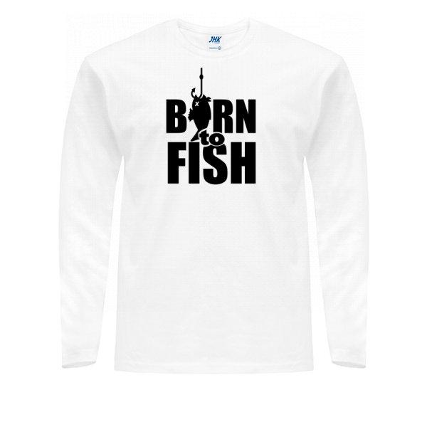 Мужской лонгслив Рожденный для Рыбалки