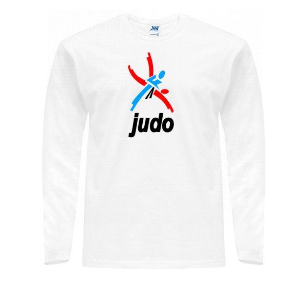 Мужской лонгслив Логотип Дзюдо