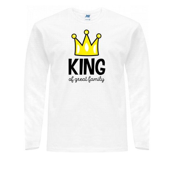 Мужской лонгслив Король большой семьи
