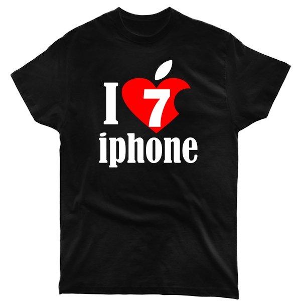 Мужская футболка Люблю 7 Айфон
