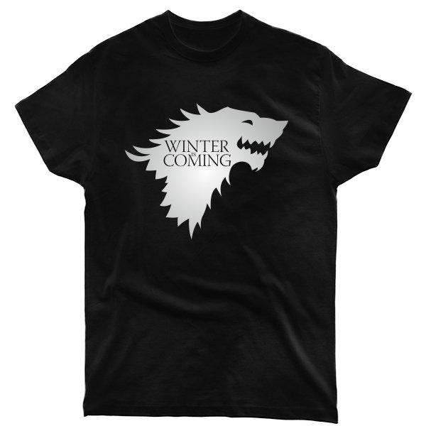 Мужская футболка Надпись Зима Близко