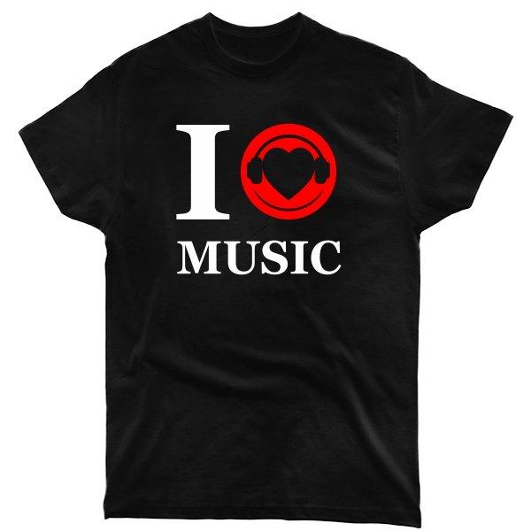 Мужская футболка Я люблю Музыку