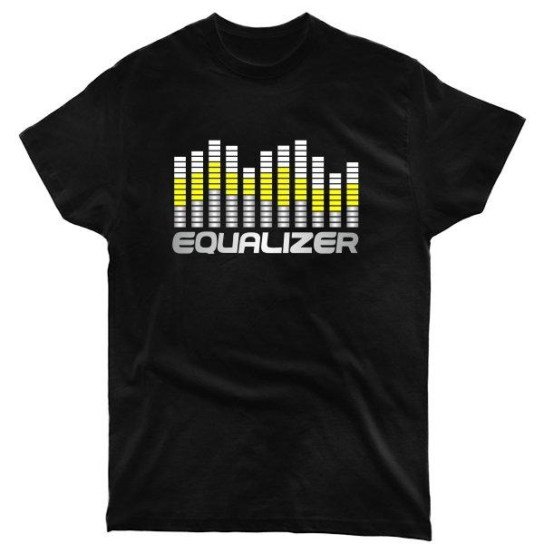 Мужская футболка Графический Эквалайзер