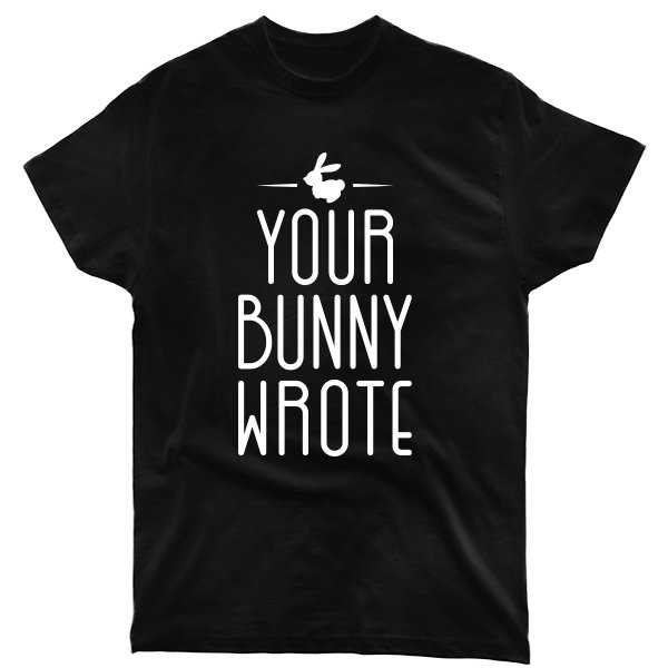 Мужская футболка Ваш Кролик написал