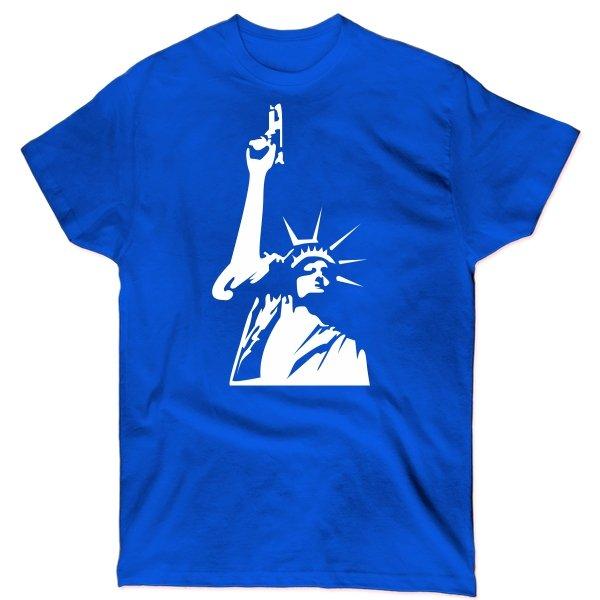 Мужская футболка Статуя Свободы с Пистолетом