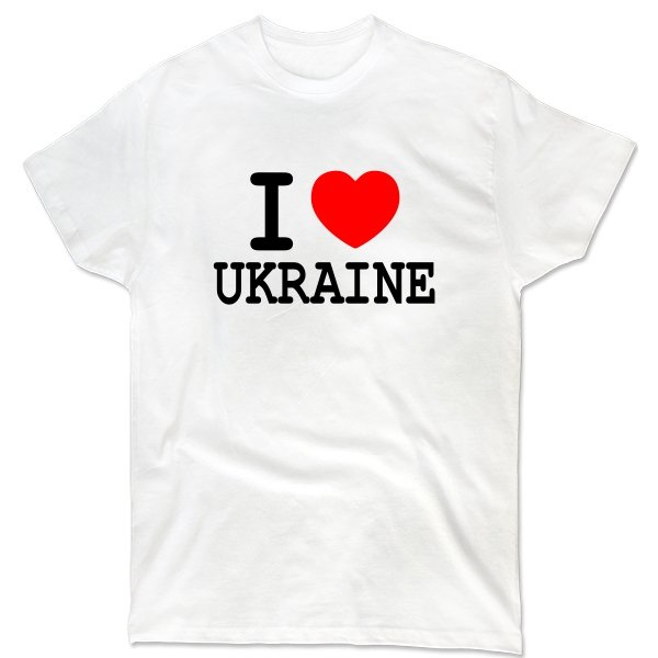 Мужская футболка Я Люблю Украину