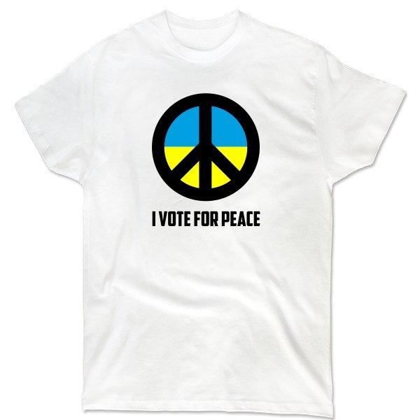 Мужская футболка Голосую за Мир
