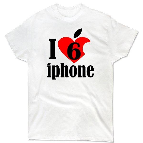 Мужская футболка Люблю 6 Айфон