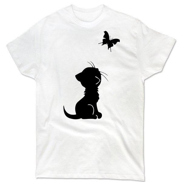 Мужская футболка Кот и Бабочка