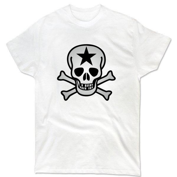 Мужская футболка Череп со звездой