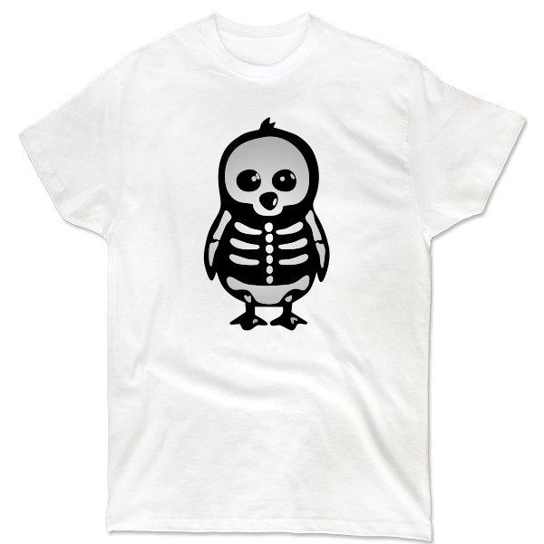 Мужская футболка Скелет Пингвина
