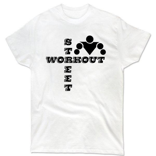 Мужская футболка Надпись Street Workout