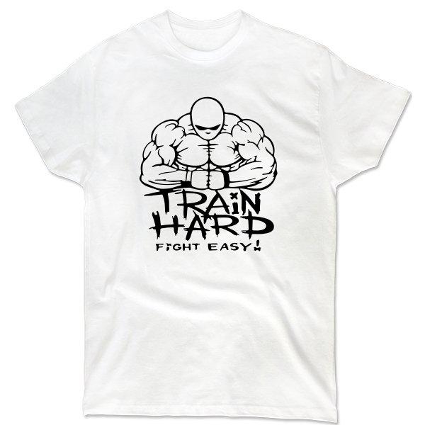 Мужская футболка Train Hard Fight Easy