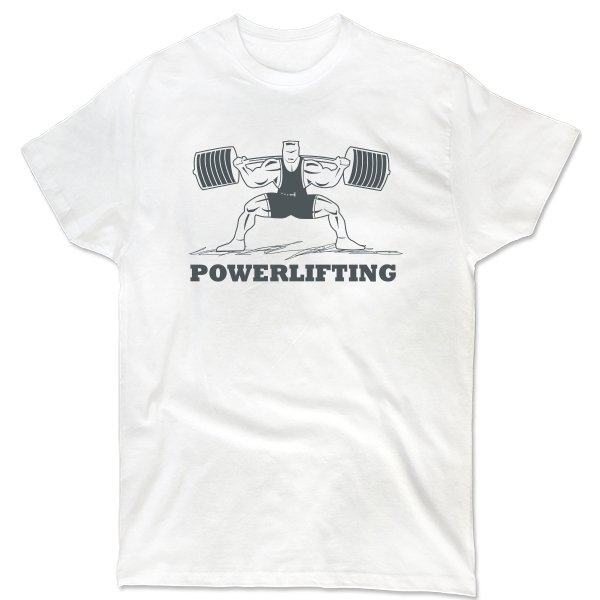 Мужская футболка Powerlifting Стойка