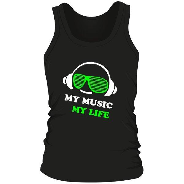 Мужская майка Моя Музыка - Моя Жизнь