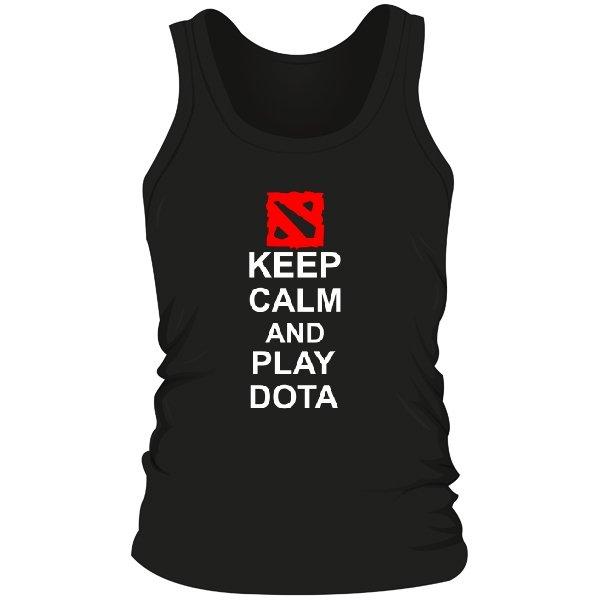 Мужская майка Keep Calm and Play Dota